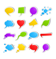 Bubble speech stickers vector image