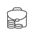 business suitcase coins finance bank money icon vector image
