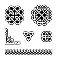 Celtic knots patterns vector image vector image