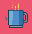 coffee icon set of great flat icons use for vector image vector image