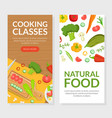 cooking classes natural food landing page vector image vector image