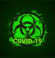 covid19-19 biohazard sign 2019-ncov corona virus vector image