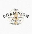 Cup Vintage Retro Design Elements for Logotype vector image vector image