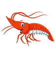 Cute shrimp cartoon vector image vector image