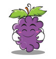cute smile grape character cartoon collection vector image vector image