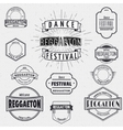 Dance Festival insignia and labels for any use vector image vector image