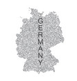 dotted map of germany on white background vector image vector image