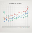 elements of infographics with colored graphics vector image