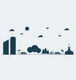 flat silhouette concept urban landscape vector image vector image