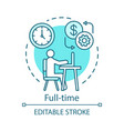 full-time concept icon employment job recruitment vector image vector image