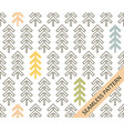 geometric spruce on a white background vector image