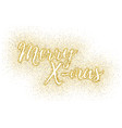 glitter calligraphic inscription vector image