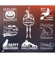 halloween posters and badges set vector image vector image