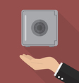 Hand with safe flat icon vector image vector image