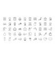 handwashing and coronavirus icon set line style vector image vector image