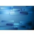 Hi-tech geometric dark blue striped background vector image vector image