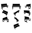 image Benches black silhouettes vector image vector image
