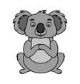 koala australian fauna on white background vector image