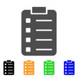list pad flat icon vector image vector image