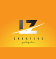 lz l z letter modern logo design with yellow vector image vector image