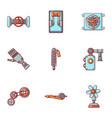 mechanician icons set cartoon style vector image
