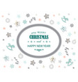 merry christmas and new year card template vector image vector image