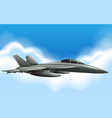 military jet flying in sky vector image