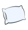 pillow icon in cartoon style vector image vector image