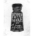 Poster pepper castor vector image