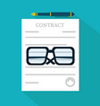 Preparation business contract icon vector image vector image