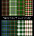 regional tartans canada collection vector image