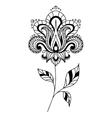 Retro paisley floral element vector image vector image