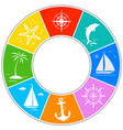 sea ocean travel summer symbol circle icon vector image