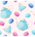Seamless pattern with tea pots and cups vector image vector image