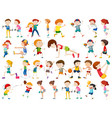 set exercise people character vector image vector image