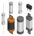 set of different fuses in 3d vector image