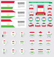 SET Tajikistan vector image vector image