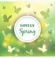 spring background bokeh design abstract vector image