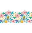 Spring music symphony horizontal seamless pattern vector image vector image