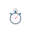 stopwatch solid icon timer for apps vector image