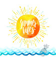 summer holidays greeting card vector image vector image