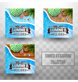 summer swimming pool top view background vector image vector image