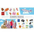 travel to europe composition vector image vector image