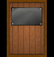 wooden frame with boards iron a4 vector image