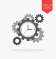 Clock with cogwheels icon Time management concept vector image