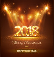 2018 happy new year greeting background with vector image vector image