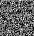 3d printer dark seamless pattern vector image vector image