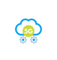 5g network icon with cloud vector image