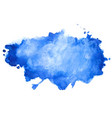 abstract blue watercolor stain texture background vector image vector image