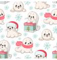 baby seal vector image